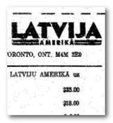 Latvija Amerika
